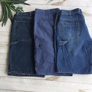 Men's lot of three cargo shorts all size 38